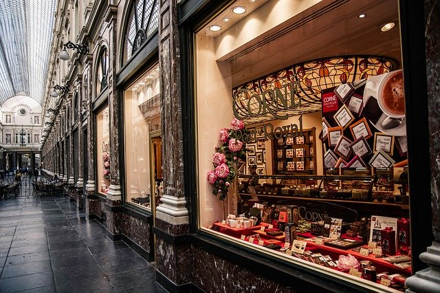 A Chocolate shop in Brussels