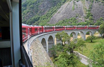 Viaggiare in treno in Svizzera