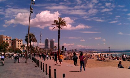 Barcelona Urban Beach is amazing during march