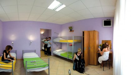 A nice female only dorm at Plus Florence Hostel