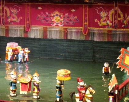 The traditional puppet show on the water