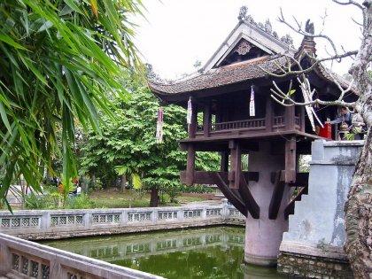 La famosa pagoda su un solo pilastro