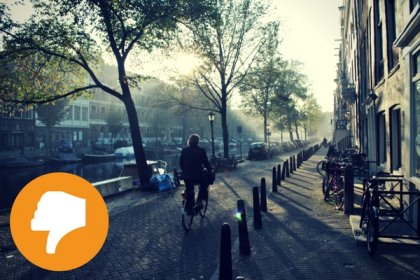 It will be hard to enjoy Amsterdam by bike with the chaos of the festivities