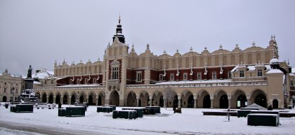 During winter Krakow is freezing cold!