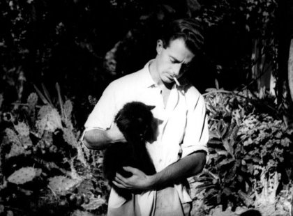 Ernst Hemingway mit seinen Katzen (big)