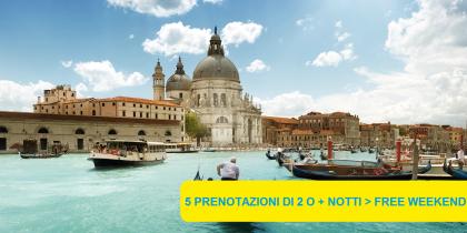 1 weekend gratis a Venezia