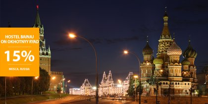 15% di sconto a Mosca in Russia