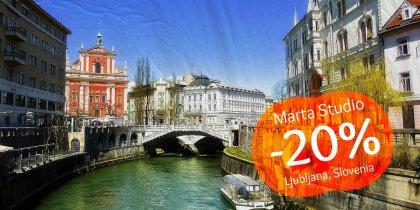 20% discount in Ljubljana