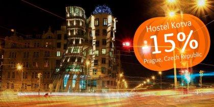 15% discount in Prague