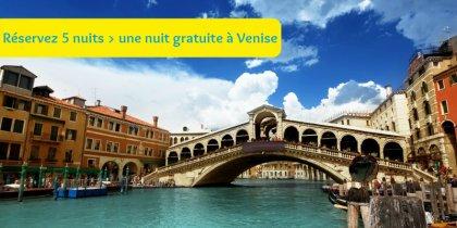 Réservez 5 nuits -> une nuit gratuite à Venise